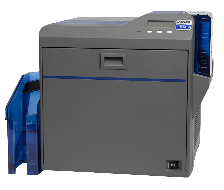 Máy in thẻ Datacard SR300, In màu hai mặt tự động.