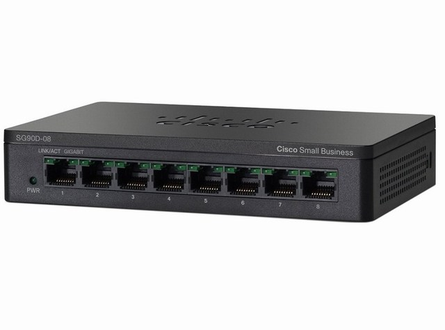 Cisco SG90D-08 8-Port Gigabit Desktop Switch (SG90D-08)