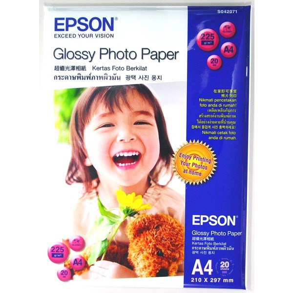 Giấy in Epson Glossy Photo Paper A4  20 Sheets