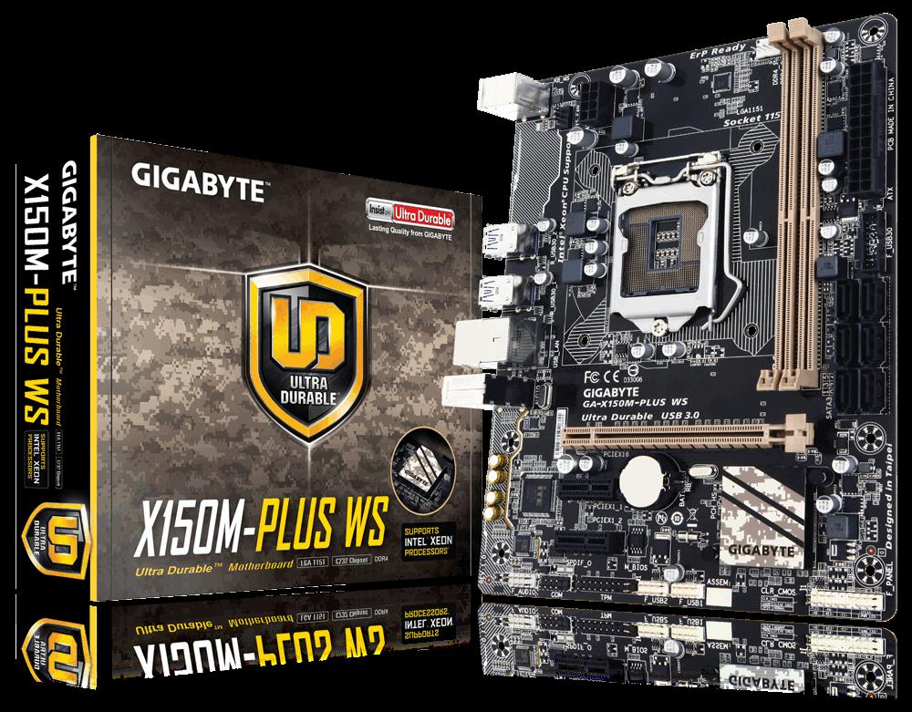 Main Server Gigabyte GA-X150M-PLUS WS, Socket 1151 (GA-X150M-PLUS WS)