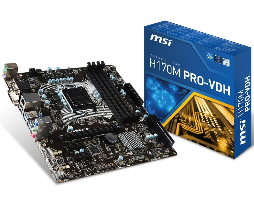 Mainboard MSI H170M PRO-VDH Socket 1151 (H170M PRO-VDH)