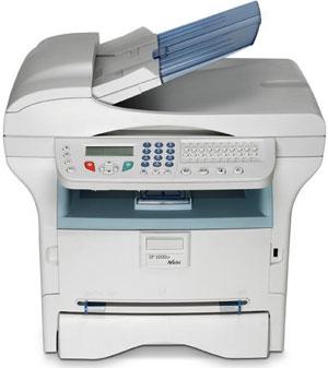 Máy in Ricoh Aficio SP1000SF, In, Scan, Copy, Fax, Laser trắng đen