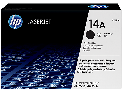 Mực in HP 14A Black Original LaserJet Toner Cartridge (CF214A)