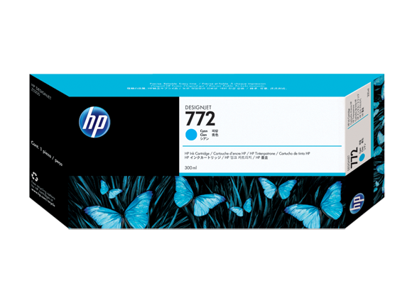 Mực in HP 772 300-ml Cyan DesignJet Ink Cartridge (CN636A)