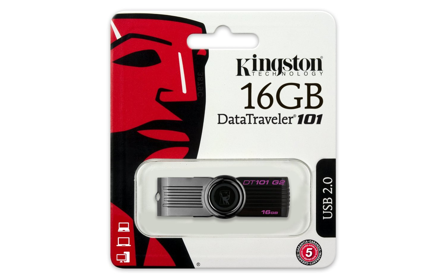 USB 16GB Kingston DataTraveler 101 Generation 2 (DT101G2/16GB)